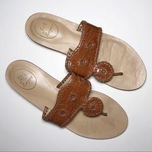 Jack Rogers Capri Sandals in Brown Croc